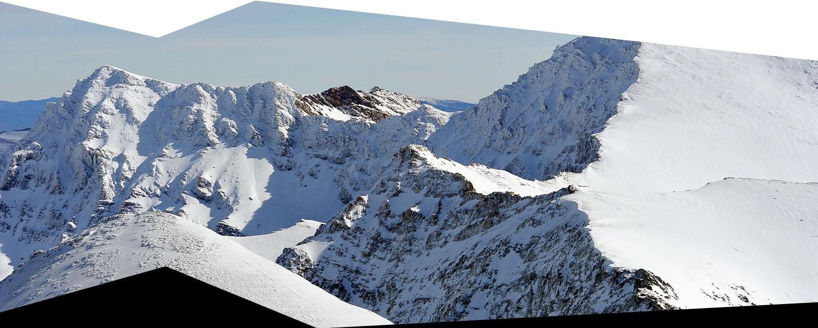 Nortes de la Alcazaba, Mulhacen y Juego de Bolos en Sierra Nevada invernal