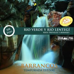 Panfleto publicidad Barranquismo GranAlpina