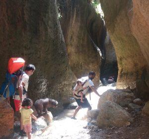 Barranquismo con niños
